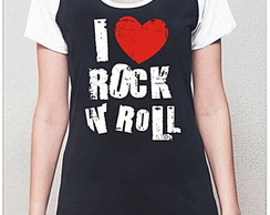 BABY LOOK RAGLAN - I LOVE ROCK AND ROLL