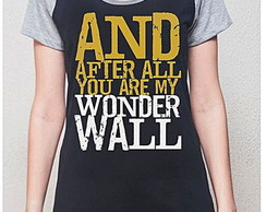 BABY LOOK RAGLAN - WONDERWALL