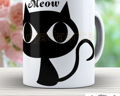 Caneca Gato Preto Cute - Cat Black 578
