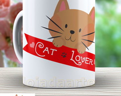 Caneca Cat Lover - Gato Cute 652