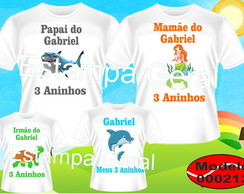 Kit Camisetas personalizada Fundo do Mar