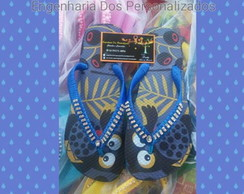 Chinelo Estampado c/ Strass
