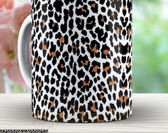 Caneca Animal Print Leopardo Fashion 562