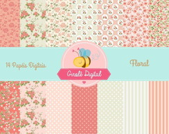 Kit Papel Digital Floral 3