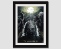 Quadro Moldura Seriados Tv Walking Dead