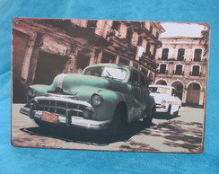 Placa Decorativa Carro Antigo