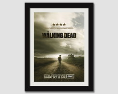 Walking Dead Quadro Moldura Seriados Tv
