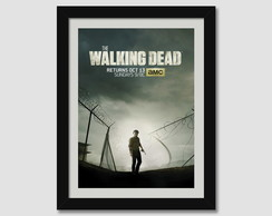 Quadro Seriados Tv Moldura Walking Dead