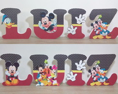 Letras Turma do Mickey decoradas