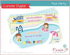 Convite Digital Pool Party