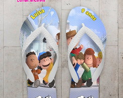 Chinelo Infantil Snoopy e Charlie Brown