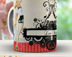 Caneca Pin Up Vintage - Xicara 807 Retro