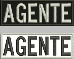 Patch Tag Bordado Agente Escrito10x3,5