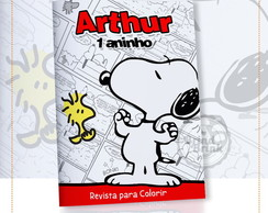 Arte Digital Capa Revista Colorir Snoopy