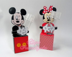 Porta Tubetes Mickey e Minnie
