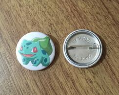 Botton Pokemon Bulbasaur - 2,5cm