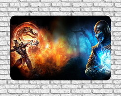 "Placa ""Mortal Kombat"" 28x39"