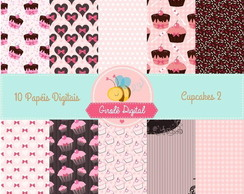 Kit Papel Digital Cupcakes 2