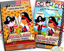 Kit Pastinha de colorir Piratas