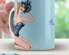 Caneca Pin Up Retro - Xicara Vintage 844