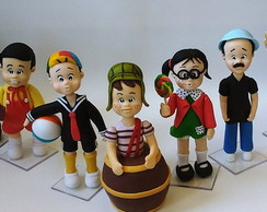 Turma do Chaves em Biscuit 14cm (altura)