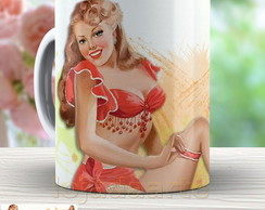 Caneca Pin Up Retro - Xicara Vintage 842
