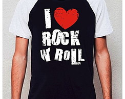 CAMISETA RAGLAN - I LOVE ROCK AND ROLL