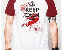 CAMISETA RAGLAN - KEEP CALM AND ....