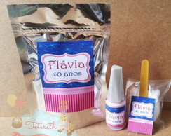 Kit Manicure no Saquinho Metalizado