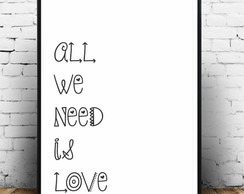 Poster All we need is love