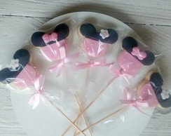 Biscoito decorado Minnie rosa