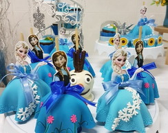 Maçã de Chocolate - Festa Frozen