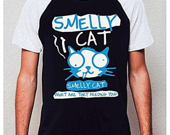 CAMISETA RAGLAN - SMELLY CAT