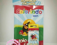 Kit colorir Angry Birds