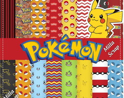 Kit Scrapbook Digital Pokemon