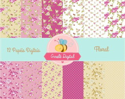 Kit Papel Digital Floral 4