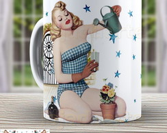Caneca Pin Up - Xicara Vintage 961