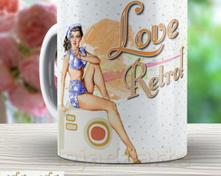 Caneca Pin Up - Xicara Vintage 963 Retro