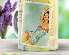 Caneca Pin Up - Xicara Vintage 967 Retro