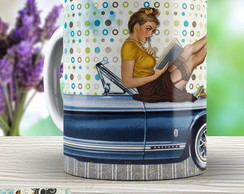 Caneca Pin Up - Xicara Vintage 968 Retro