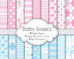 Kit Digital Paper Baby Basics