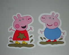 Aplique Peppa ou George Pig