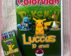 Revista Colorir Pokemon com giz