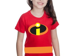 Camiseta Infantil Incriveis Customizada