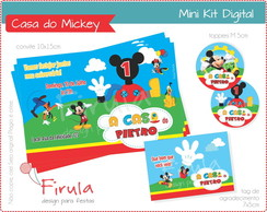 Mini Kit Digital Casa do Mickey