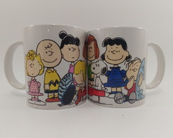 Caneca Porcelana Turma Do Snoopy