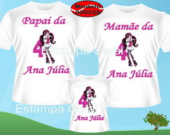 Kit Camisetas Aniversario Monster high