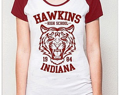 BABY LOOK RAGLAN - HAWKINGS INDIANA