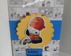 CONVITE DO SNOOPY E DO CHARLIE BROWN