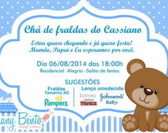 Convite Chá De Fraldas Ursinho No Elo7 Ruany Bento 77f59b